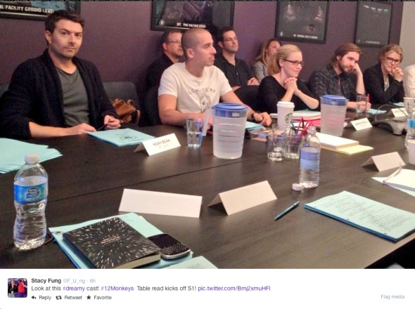 Stacy Fung @F_U_ng - Look this this #dreamy cast! #12Monkeys table read kicks off S1!