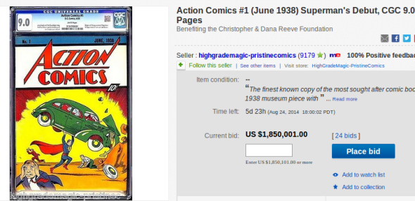 Action Comics on eBay