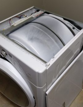top of dryer with panel removed