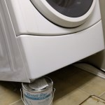 washer propped up