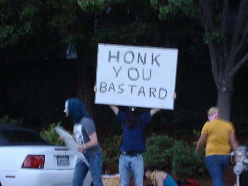 HONK YOU BASTARD