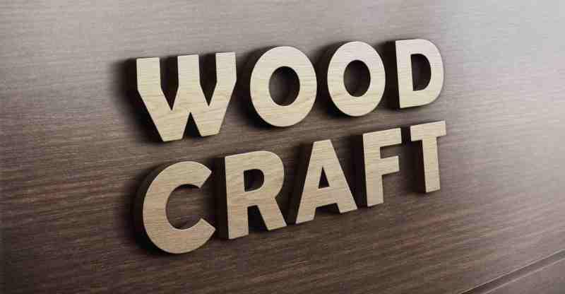 Realistic 3D Wooden Logo Mockup - Awesome Mockups