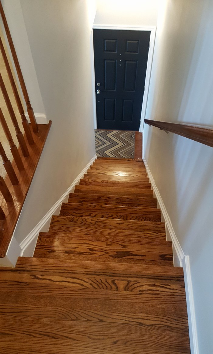 Red Oak Hardwood Stairs Stain Dark Walnut