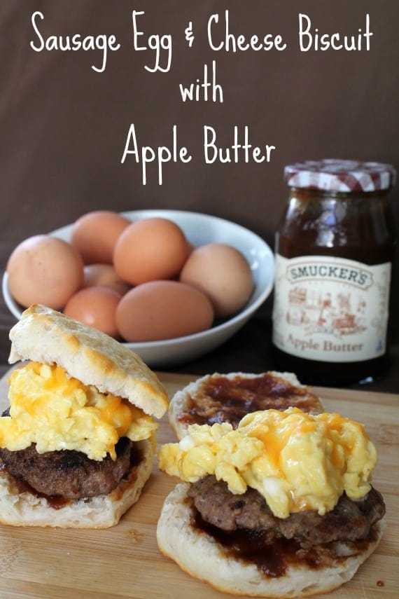 Sausage Egg & Cheese Biscuit with Apple Butter from Awesome on 20