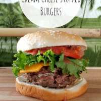 Jalapeno Cream Cheese Stuffed Burger