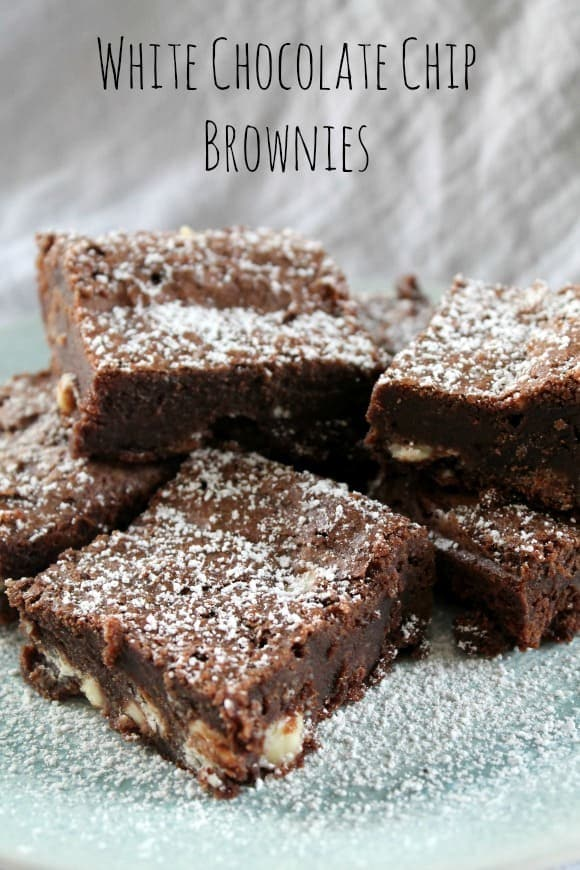 White Chocolate Chip Brownies | How to be Awesome on $20 a Day