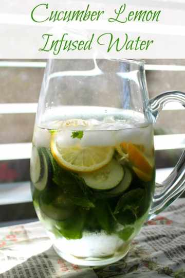 Cucumber Lemon Infused Water | How to be Awesome on $20 a Day