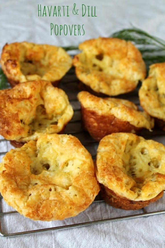 Havarti & Dill Popovers   How to be Awesome on $20 a Day