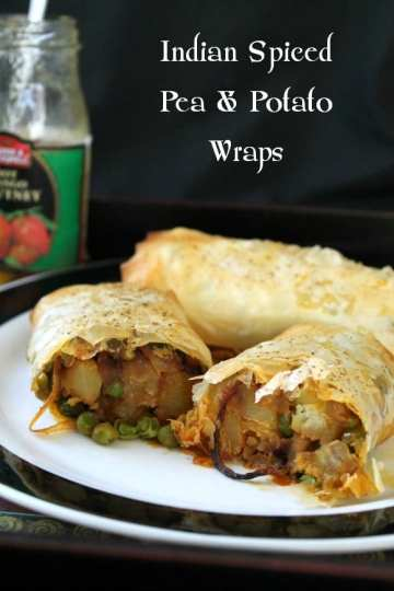 Indian Spiced Pea & Potato Wraps | How to be Awesome on $20 a Day