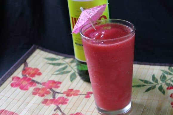 Strawberry Soju Slushie   How to be Awesome on $20 a Day