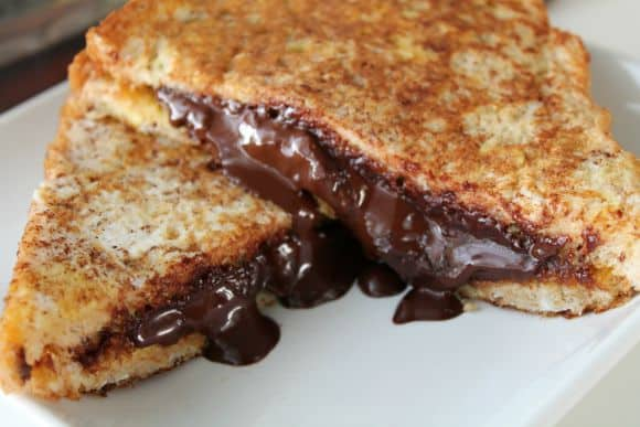 Pumpkin Butter Dark Chocolate Stuffed French Toast   How to be Awesome on $20 a Day