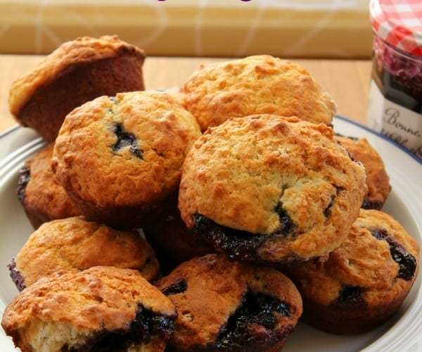 Blueberry Jam Muffins| How to be Awesome on $20 a Day