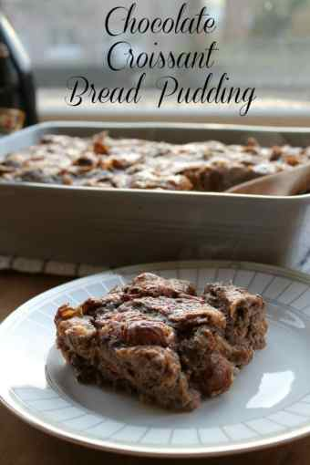 Chocolate Croissant Bread Pudding | How to be Awesome on $20 a Day
