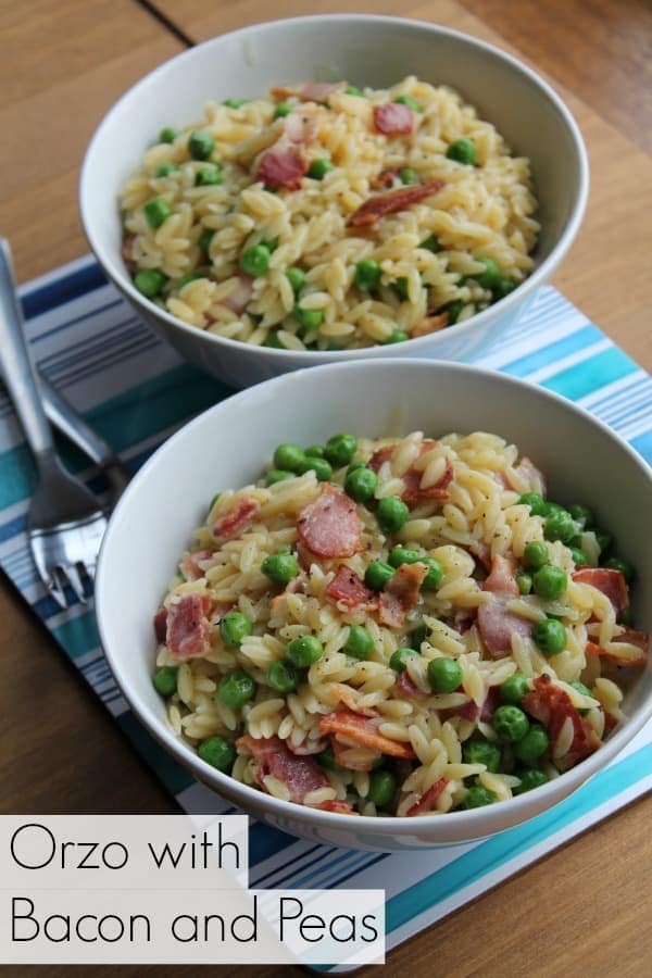 Orzo with Bacon and Peas | How to be Awesome on $20 a Day