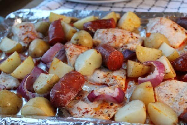 Spanish Chicken & Chorizo Bake   How to be Awesome on $20 a Day