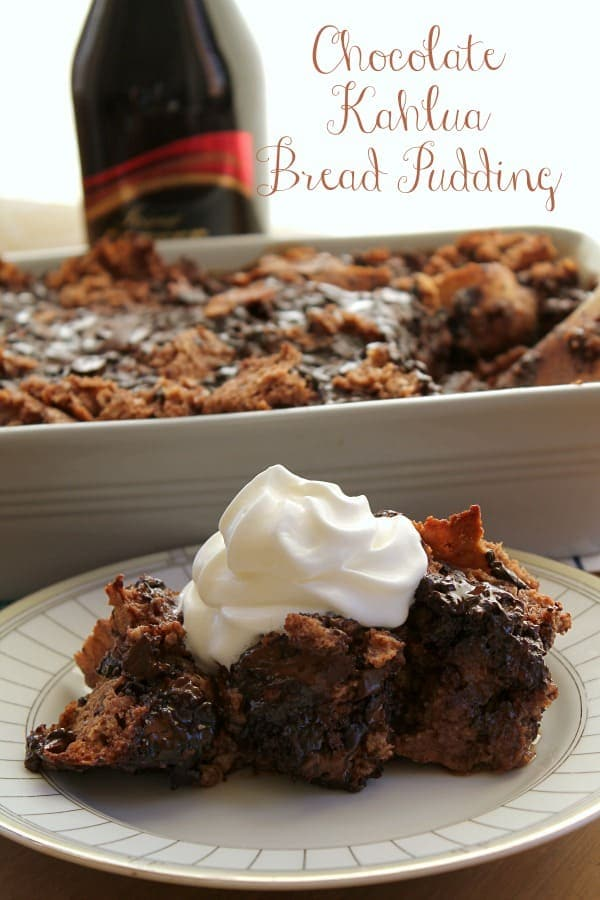 Chocolate Kahlua Bread Pudding
