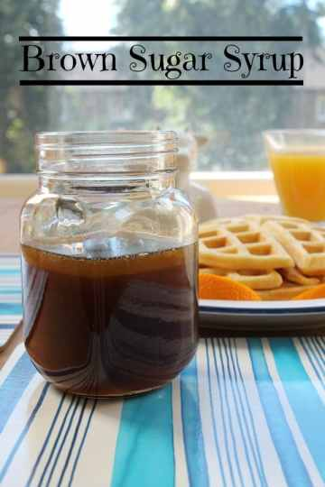 Brown Sugar Syrup | How to be Awesome on $20 a Day