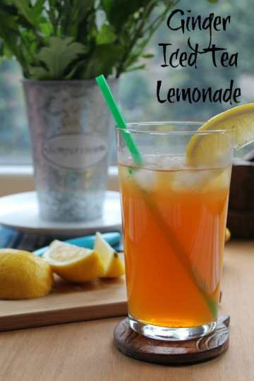 Ginger Iced Tea Lemonade   How to be Awesome on $20 a Day