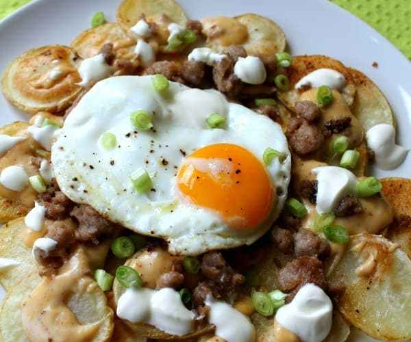 Breakfast Nachos | How to be Awesome on $20 a Day