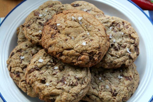 Giant Sea Salt Chocolate Chip Cookies | How to be Awesome on $20 a Day