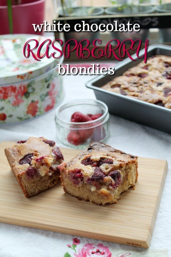 White Chocolate Raspberry Blondies | How to Be Awesome on $20 a Day
