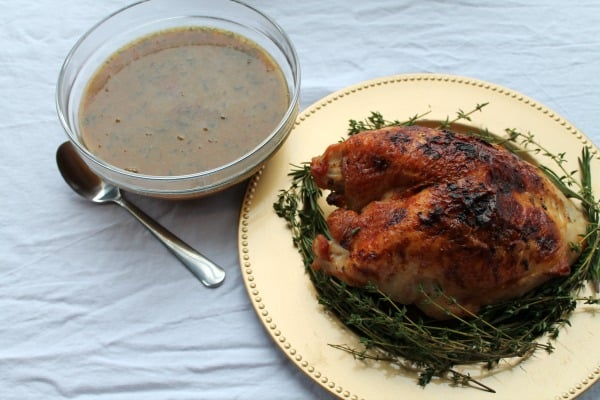 Brined & Roasted Turkey Breast with Herb Gravy | How to be Awesome on $20 a Day