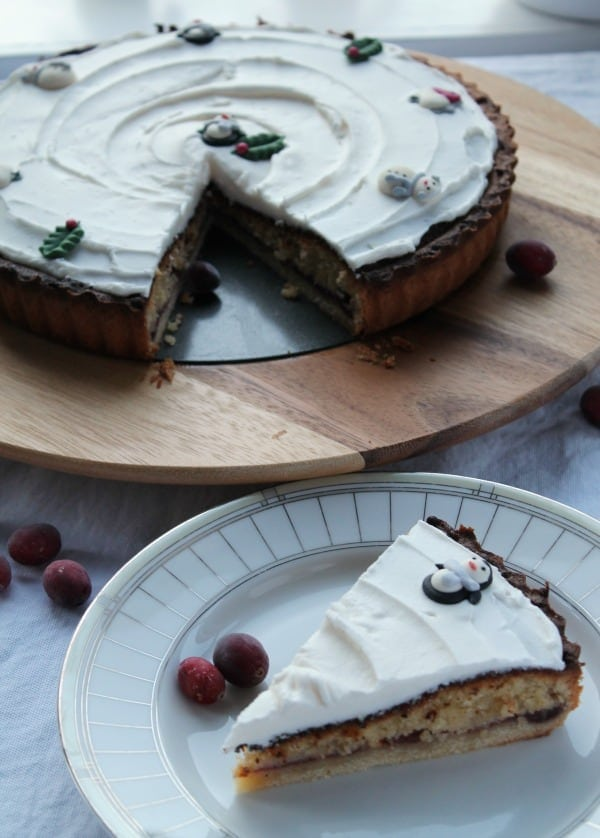 Cranberry Bakewell Tart | How to be Awesome on $20 a Day