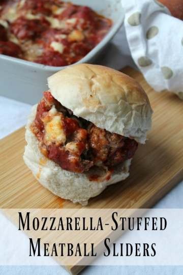 Mozzarella-Stuffed Meatball Sliders | How to be Awesome on $20 a Day