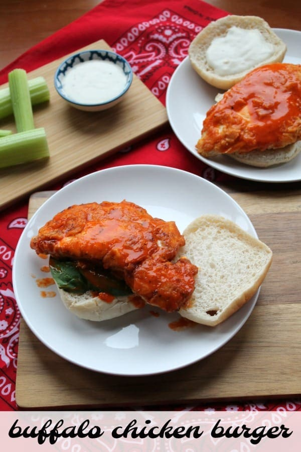 Buffalo Chicken Burger   How to be Awesome on $20 a Day