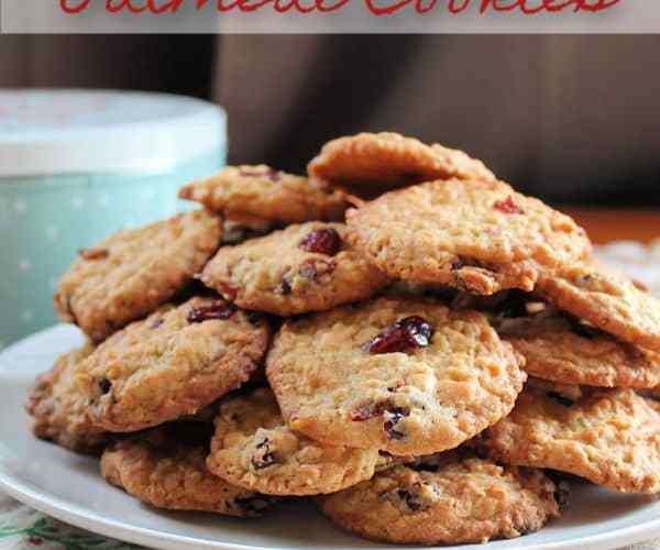 White Chocolate Cranberry Oatmeal Cookies | How to be Awesome on $20 a Day