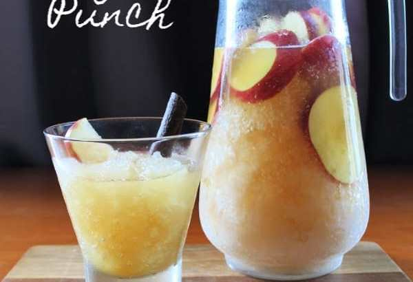 Apple Brandy Frozen Punch | How to Be Awesome on $20 a Day