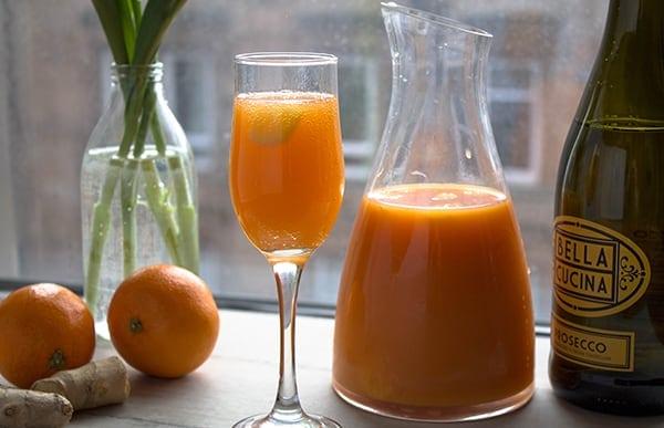 Carrot Ginger Orange Mimosas