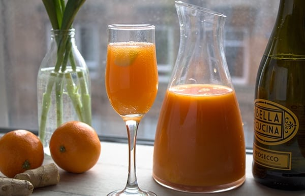 Carrot Ginger Orange Mimosas