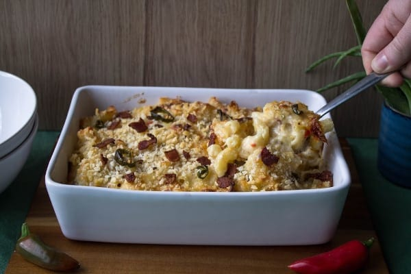 Spicy Bacon Mac & Cheese | How to Be Awesome on $20 a Day