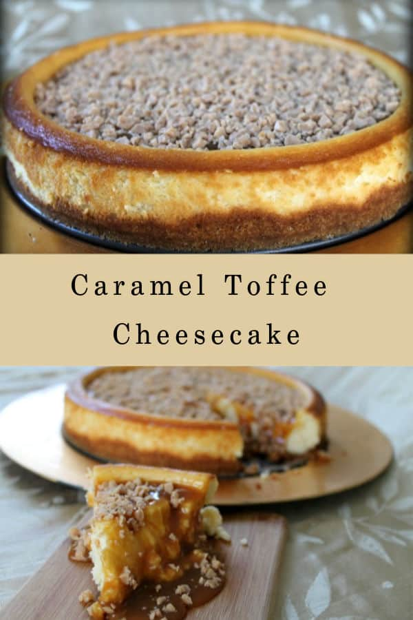 Caramel Toffee Cheesecake | How to Be Awesome on $20 a Day