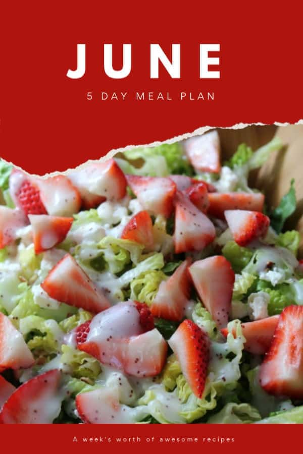 June 5 Day Meal Plan | How to Be Awesome on $20 a Day