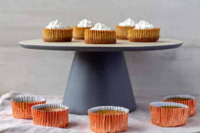 Mini Pumpkin Cheesecakes in wrapper