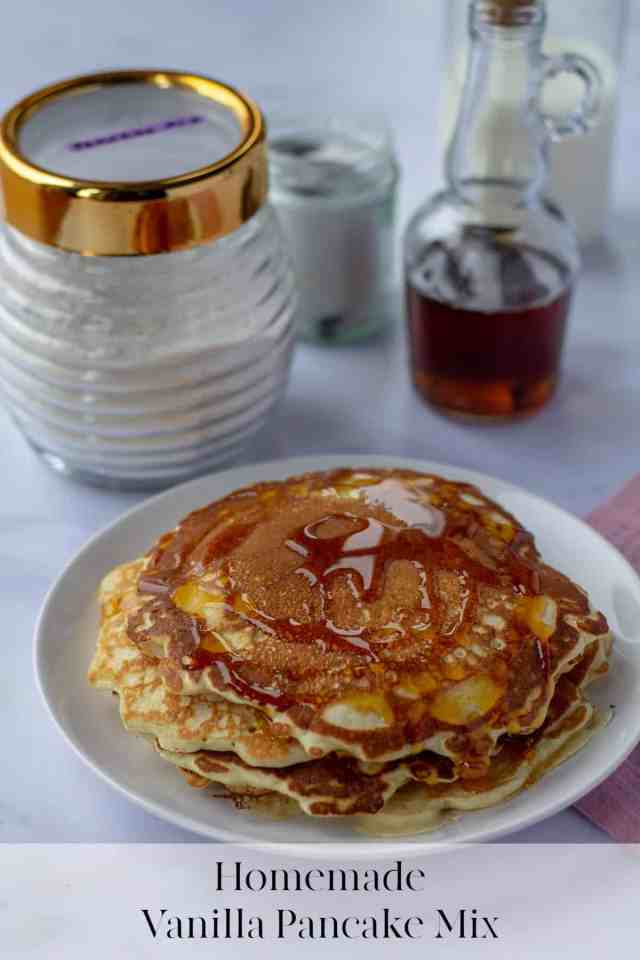 Homemade Vanilla Pancake Mix with text