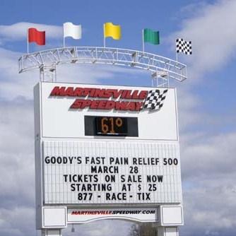 Martinsville speedway sign
