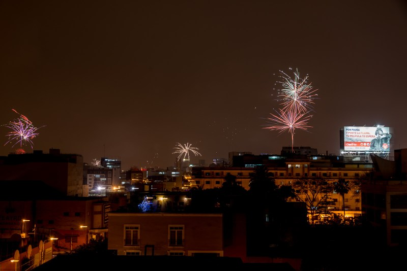 Christmas Fireworks in Miraflores, Lima, Peru