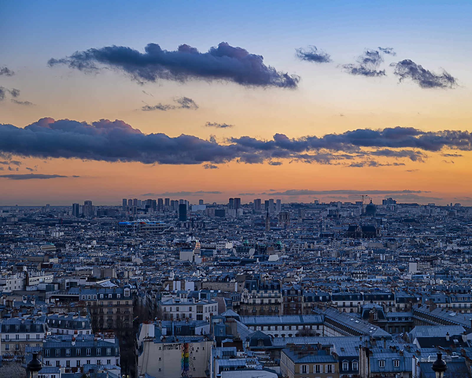 Blue Hour View of Paris from Sacre Coeur
