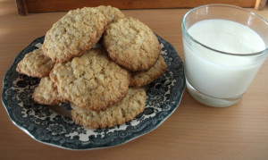 Grandma's comforting oatmeal cookies