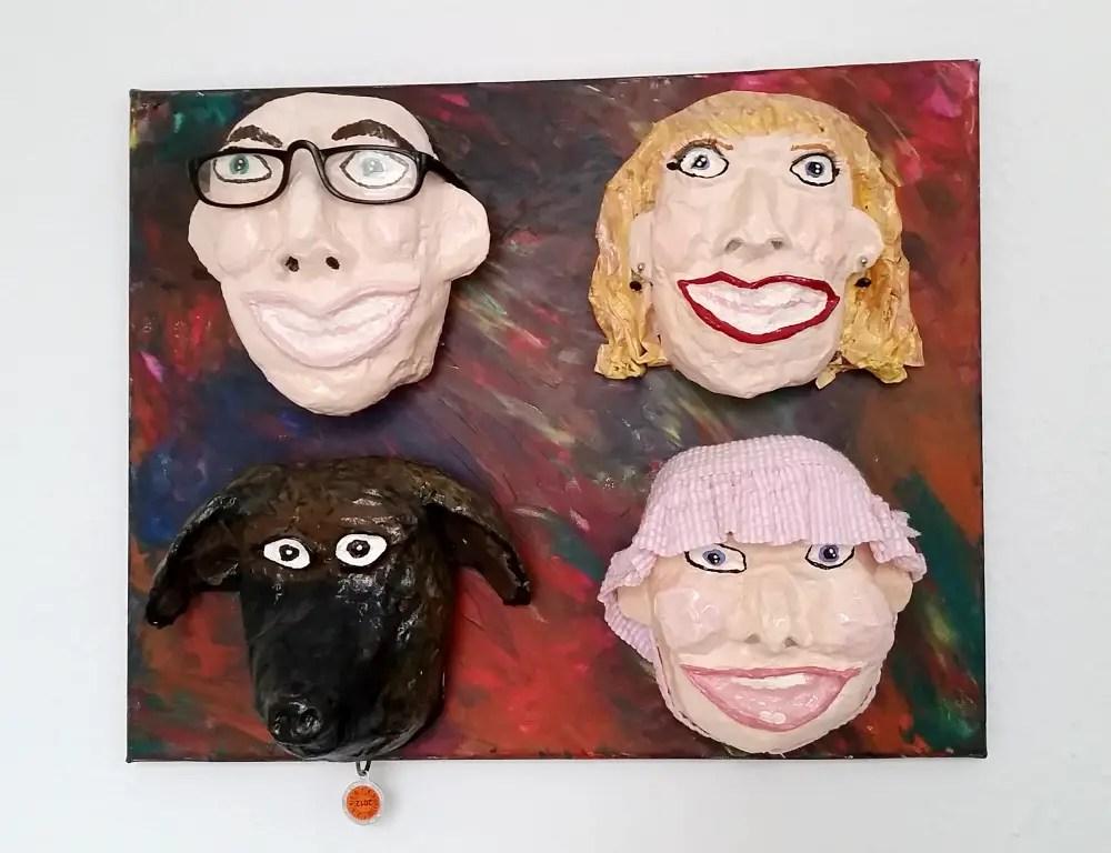 DIY Upcycled Caricature Masks