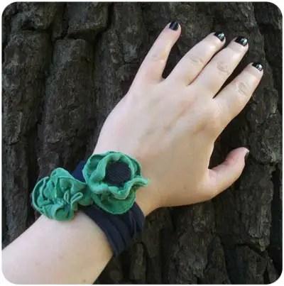 Scrap Happy Refashioned Armbands