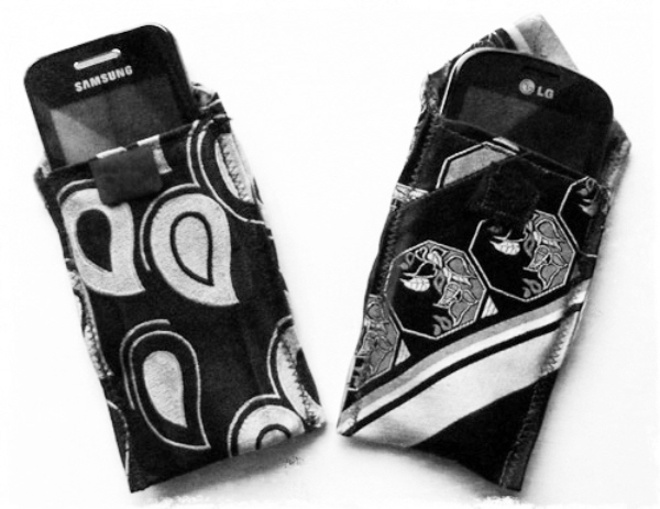 The easy upcycled necktie phone case