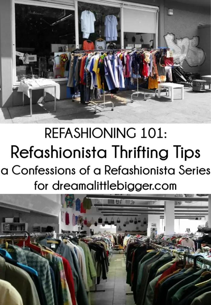 Refashionista Thrifting Tips header