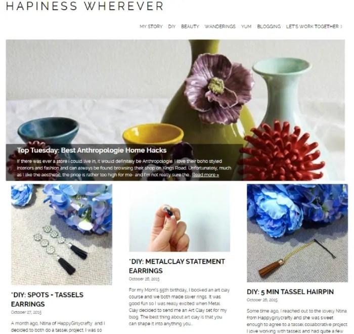 Hapiness Wherever DIY Lifestyle Blog
