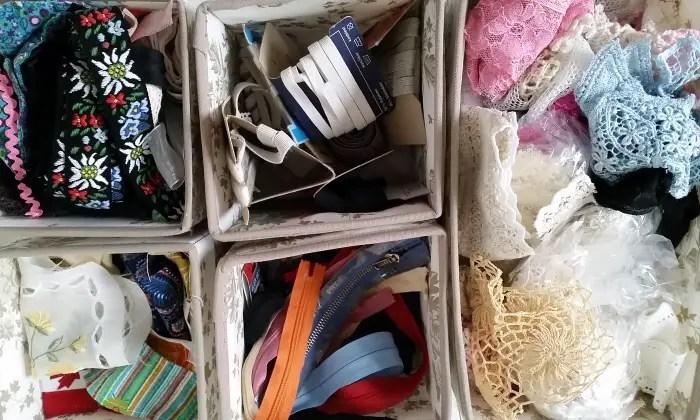 Sewing notion stash storage