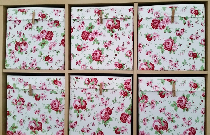 refashionin thrifted fabric stash storage