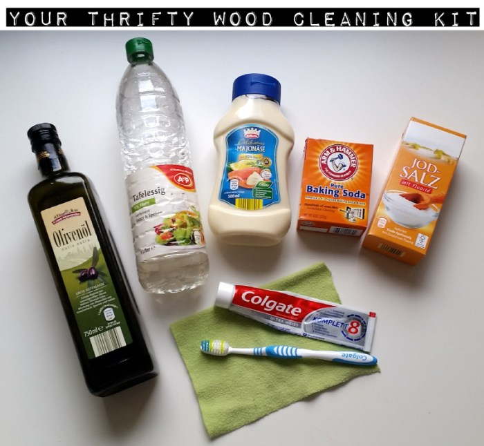 The Thrifty Wood Cleaning Kit